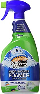 Scrubbing Bubbles Mega Shower Foamer Mousse with Ultra Cling, Wide Spray and Large Jet, Twin Pack, 32 Ounce X 2, Total 64 Fl Ounce