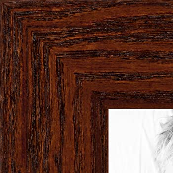 2WOMN9590-5x20 ArtToFrames 5x20 inch Mahogany and Burgundy With Beaded Lip Picture Frame