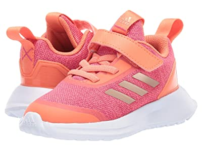 adidas Kids RapidaRun X EL (Toddler) (Coral/Copper/Magenta) Girls Shoes