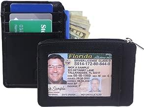 Set of Two (2), RFID Wallet Minis for Men and Women - Genuine Leather - Best RFID Blocking Slim Wallet