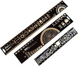 Mayata 1Set 15cm 20cm 25cm Multifunctional PCB Ruler Measuring Tool Resistor Capacitor Chip IC SMD Diode Transistor Package 180 Degrees