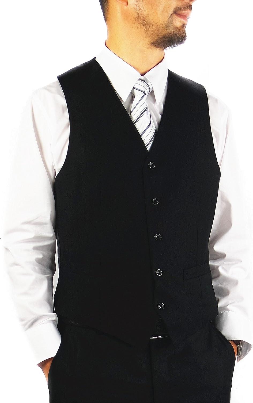 Figlio Lontano Men's Slim Fit Suit Vest Formal Solid