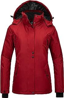 Women's Mountain Rain Jacket Windproof Ski Coat Waterproof Warm Outwear
