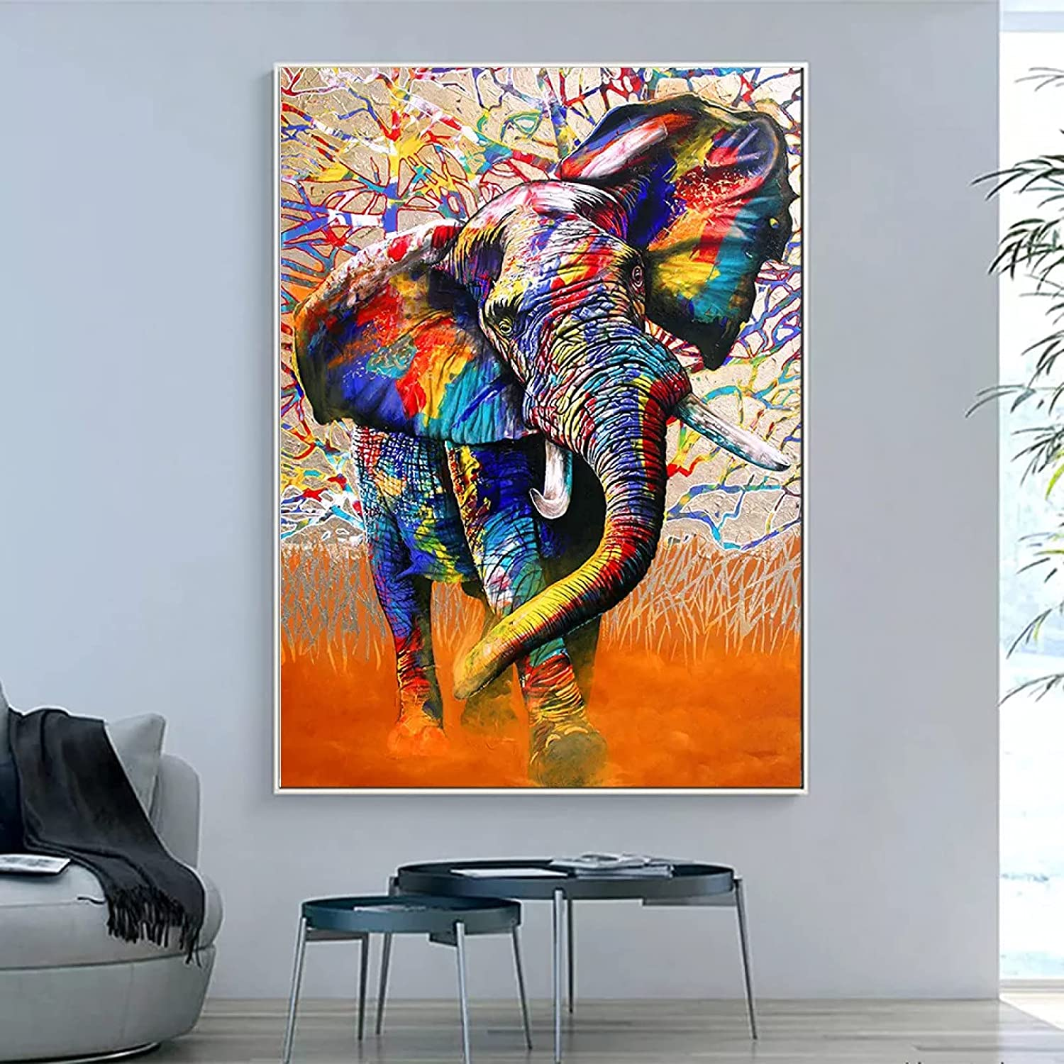 FOMBV Wall Art Canvas Excellent Painting Animal Pictur Clearance SALE Limited time Decorative