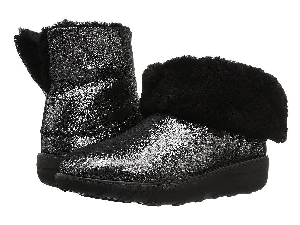 FitFlop Mukluk Shorty 2 Shimmer Boot (Black) Women
