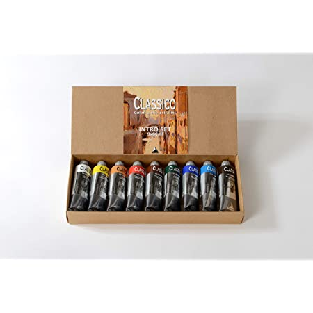 Maimeri 9192680 Set Tubi Olio Classico da 60 ml ,9 Colori Assortiti