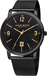 Akribos XXIV Dress Watch Analog Display Quartz Movement for Men