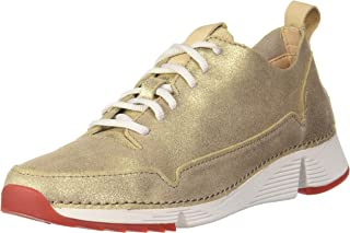Clarks Women Tri Spark. Leather Sneakers