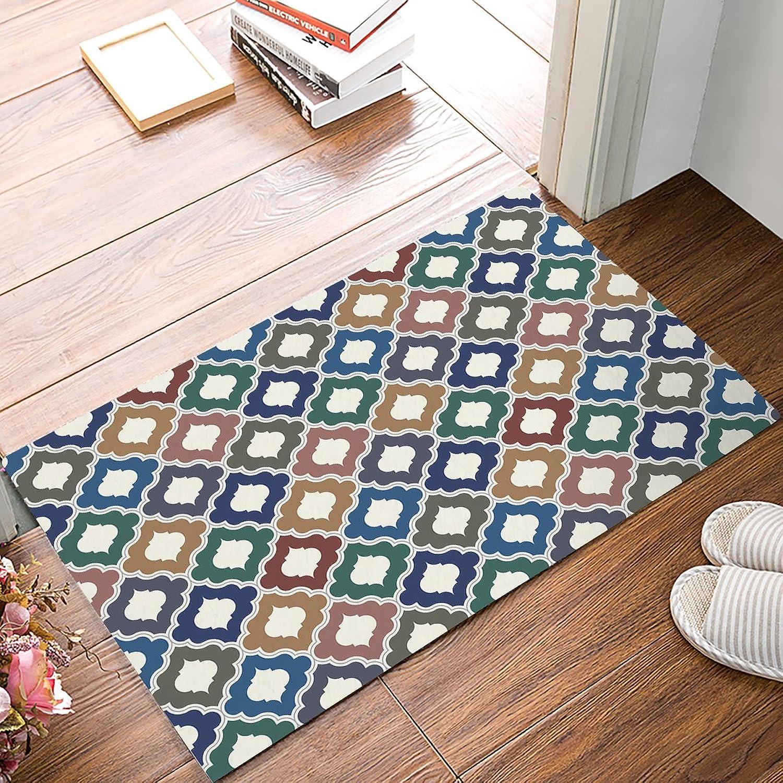 Geometrical Pattern Floor Mat Home Decor Carpet Indoor Outdoor Front Rectangle Kitchen Doormat Multicolor