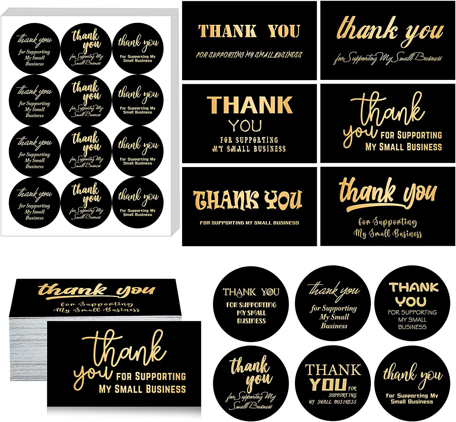 Charlotte OFFicial store Mall 720 Pieces Thank You Card and for Sticker Sup Set 120