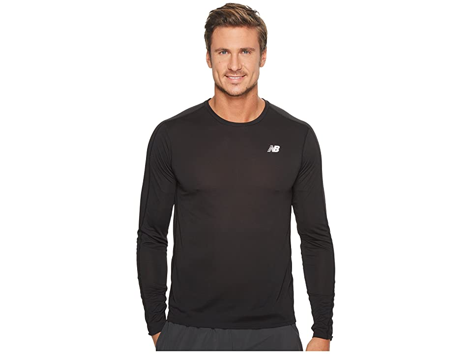 New Balance Accelerate Long Sleeve (Black 1) Men