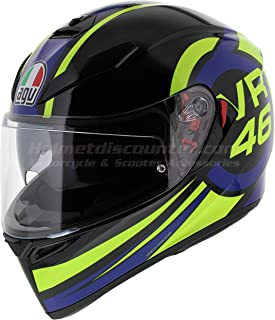 AGV K3 SV Full Face Motorcycle Helmet - Valentino Rossi Ride 46 - Size XL