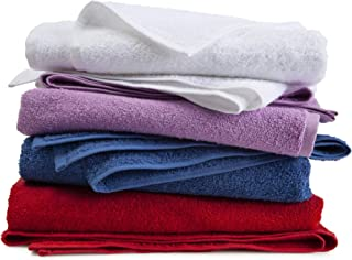 Utica Solid Color 6 Piece Pack, 6pc Towel Set, Red