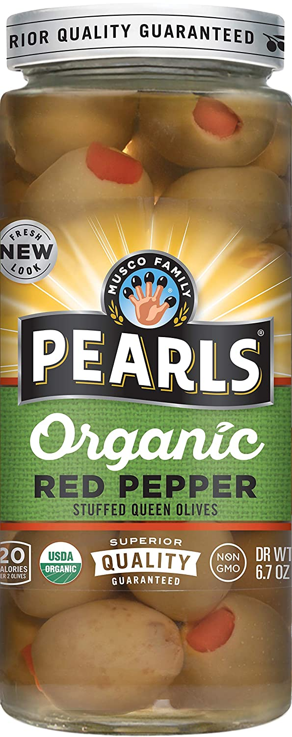 Pearls Specialties Organic Red Save money Pepper Green Stuffed Olives 6 4 years warranty