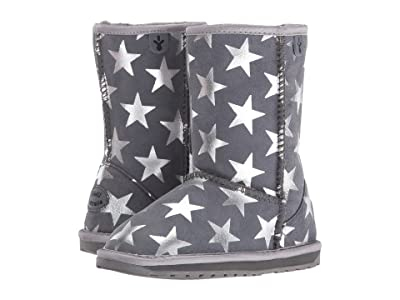 EMU Australia Kids Starry Night (Toddler/Little Kid/Big Kid) (Charcoal) Girls Shoes
