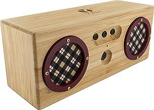 Bluetooth Lautsprecher -715804- klein, Mini Bluetooth Speaker Stereo, Musikbox, Lautsprecher Boxen Bluetooth tragbar mit Headset Funktion aus FSC zertifiziertem Bambus Holz, Micro USB, AUX