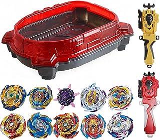 GiGimelon Complete Set Beystadium 10Battling Tops 2Launchers Stickers، Battle Burst Gyros Set، Kids Boys Birthday Party Gift Ideas