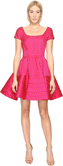 Zac Posen - Party Jacquard Cap Sleeve Dress