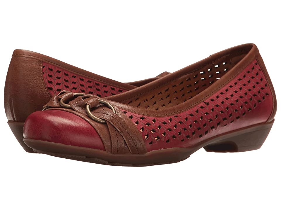 Comfortiva Posie Laser Softspots (Chili Red/Teak) Women