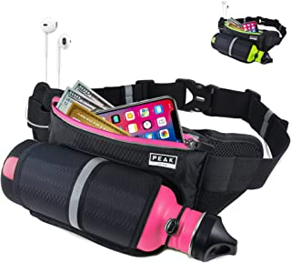 跑步腰带带水瓶支架–使用 AS 跑步腰包或腰袋适用于运动慢跑散步远足或骑行–适合任何水或饮料瓶装