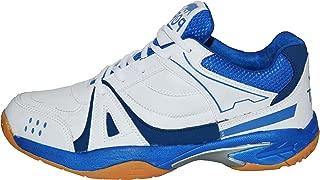 Port Unisex Synthetic White Badminton Sports Shoes