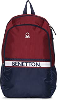 United Colors of Benetton 21 Ltrs Red Casual Backpack (0IP6MPBKP007I)