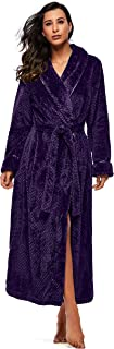 Fleece Robes for Women Ladies Winter Flannel Dressing Gown with 2 Side Pockets