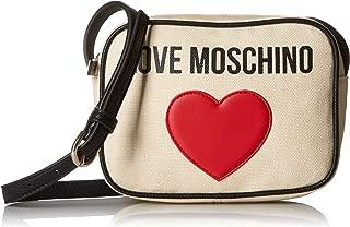 Love Moschino Borsa Canvas E Pebble Pu, Women's Top-Handle Bag, Black (Nero), 7x15x20 cm (W x H L)