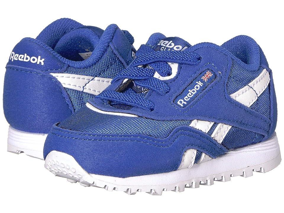 Reebok Kids Classic Nylon MU (Infant/Toddler) (Cobalt/White) Kids Shoes