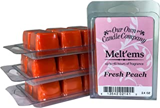 Georgia Peach Charm and Beauty Southern Belle Scented Wax Tart Lasts Longer Premium Fragrance is  Stronger SIX 1 Vegan Soy Cubes