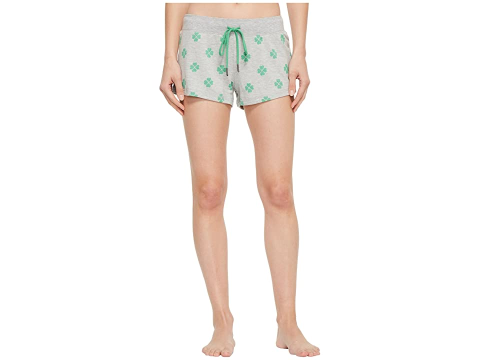 P.J. Salvage Lucky Me Printed Shorts (Heather Grey) Women