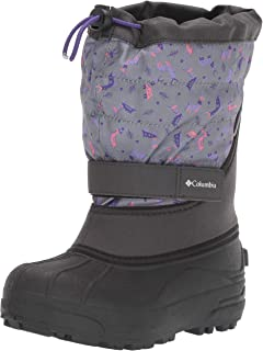 Columbia Youth Powderbug Plus II Print Snow Boot, Waterproof, Insulated