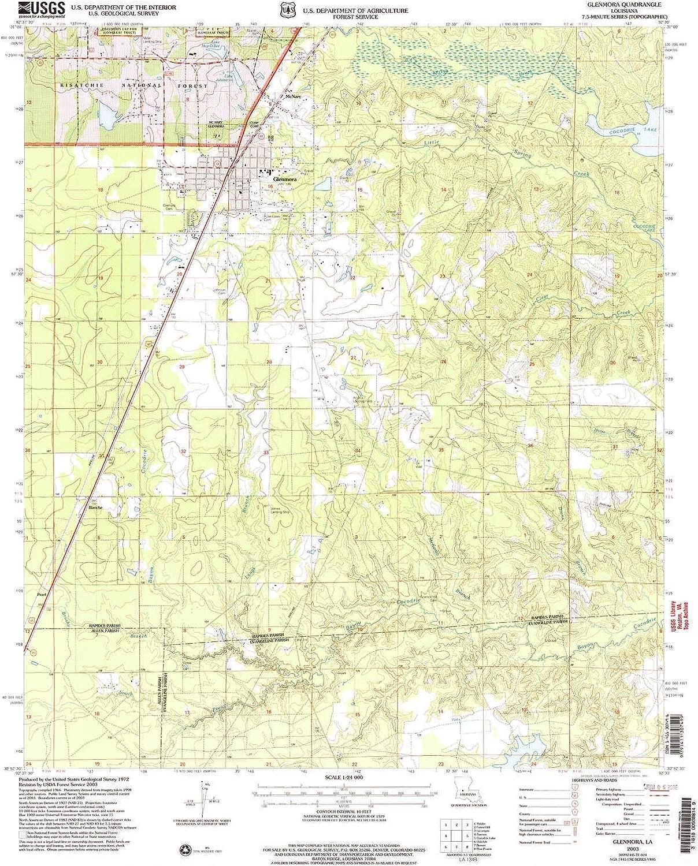 Glenmora LA topo map, 1 24000 Scale, 7.5 X 7.5 Minute, Historical, 2003, Updated 2005, 26.7 x 22 in