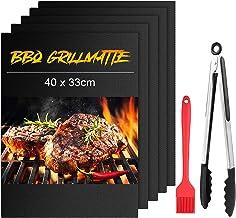 mixigoo Tapis de Cuisson, Set de 5 Tapis de Grill pour Barbecue et Four, Anti-adhérent Réutilisable Feuilles de Cuisson 40...