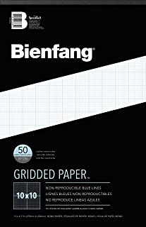 Bienfang Designer Grid Paper, 50 Sheets, 11 by 17 Pad, 10 by 10 Cross Section