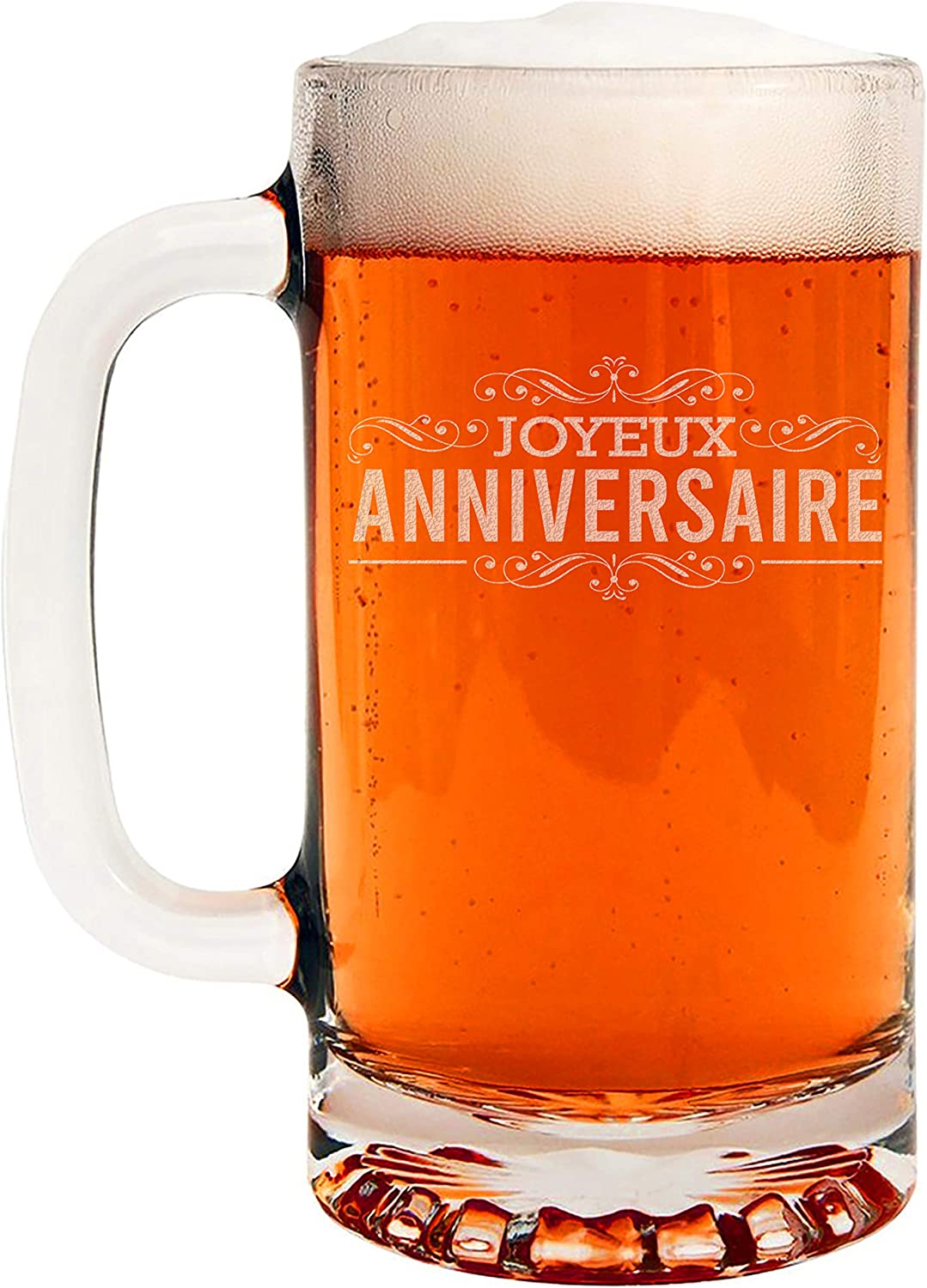 Happy Birthday French Etched Mail Sales for sale order Mug Beer 16oz