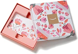 Amazon.com Gift Card in a Pink Flower Box