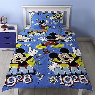 15d894c9198 Mickey Mouse - Juego de Funda de nórdico/edredón Individual  (Individual/Azul)