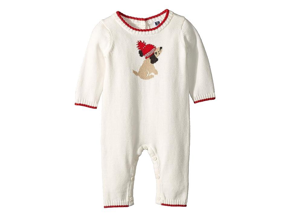 Janie and Jack Long Sleeve One-Piece (Infant) (Intarsia Dog) Kid