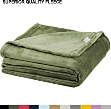 Soft Fleece Throw Blanket – Plush Lightweight Blanket for Bed or Couch - Fuzzy Flannel Blanket for Bedroom, Living Room and Travel – Olive, Throw Blanket by Blissford