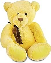 Gitzy Sitting Teddy Bear - Colorful Stuffed Animal for Kids - 12 Inch Plush Bear - Yellow