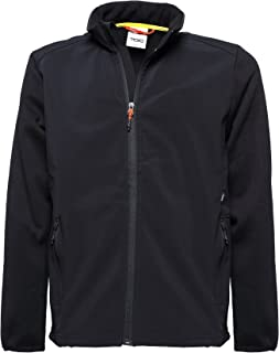 Team Softshell Jacket - Windproof and Water-reistant Front, 100% Polyester