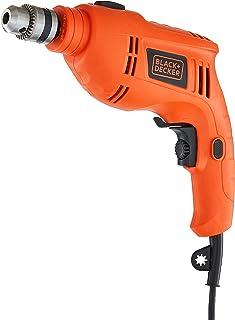 BLACK+DECKER TB555 550W 10mm Variable Speed Reversible Hammer Drill (Orange, 1-Piece)