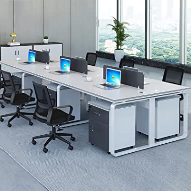 Computer Desk Home Office Writing Small Study Table Saving Space Easy Assemble Stable Metal Frame Wearable Modern Simple