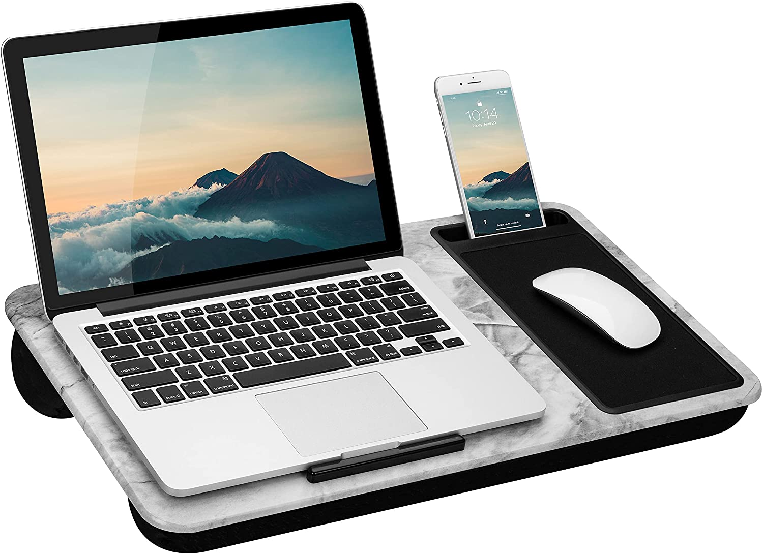LapGear Home Office Max 60% OFF Lap Desk with P Mouse Popular products Device and Ledge Pad