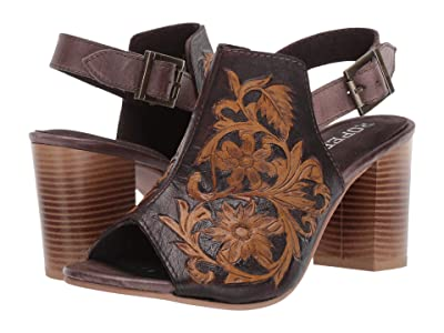 Roper Mika (Brown Floral Tooled Leather) Women