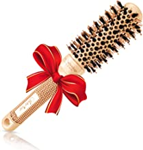 """Blow-dry Round Brush (1.3"""" Small Barrel) with Natural Boar Bristles for Salon-Like Blowouts, Styling, Curling Short Hair w..."""