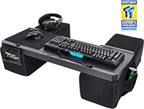 Couchmaster CYCON - Couch Gaming Lapboard/Lapdesk for Keyboard/Mouse (PC / PS4 / XboxOne) incl. Ergonomic Cushions, Mousepad, 5m Cable (Microfiber Black Edition)