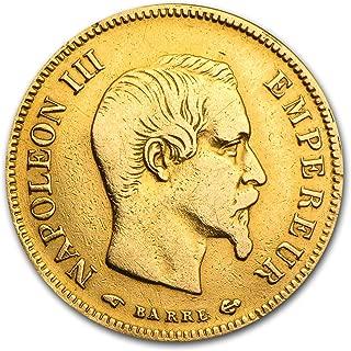 1854 FR - 1860 France Gold 10 Francs Napoleon III Avg Circ Gold Very Good