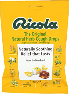 Ricola, Cough Throat Drops Herbal Original, 21 Each